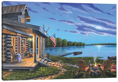 Lakeside Retreat Canvas Art Print