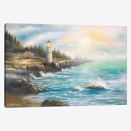 Light On The Water Canvas Print #GEP97} by Geno Peoples Canvas Print