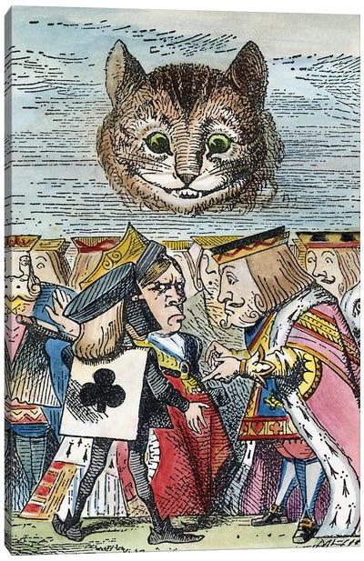 Cheshire Cat, 1865 Canvas Art Print