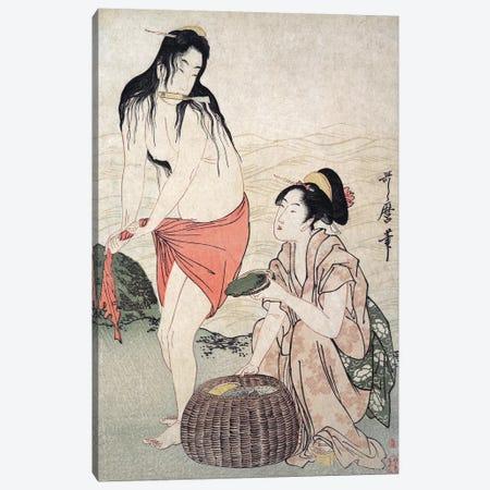 Japan: Abalone Divers Canvas Print #GER107} by Kitagawa Utamaro Art Print