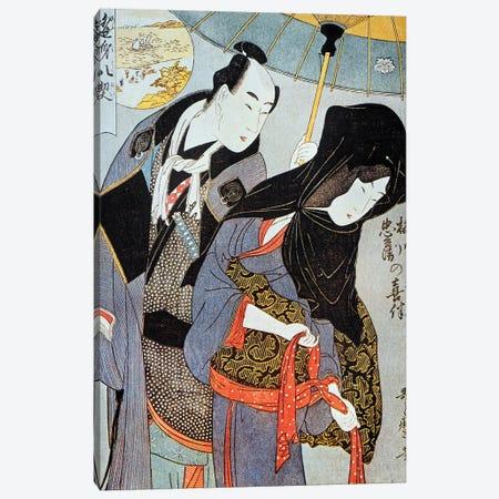 Utamaro: Lovers, 1797 Canvas Print #GER108} by Kitagawa Utamaro Canvas Wall Art