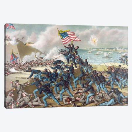 Battle Of Fort Wagner, 1863 Canvas Print #GER109} by Kurz & Allison Canvas Art