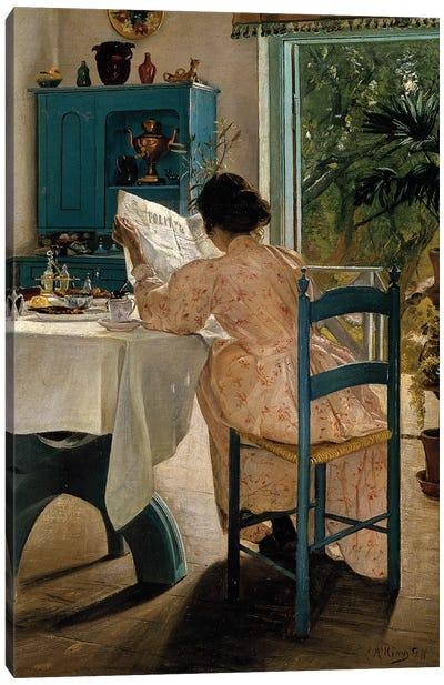 Ring: Breakfast, 1898 Canvas Art Print