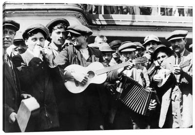 Immigrant Band, C1905 Canvas Art Print