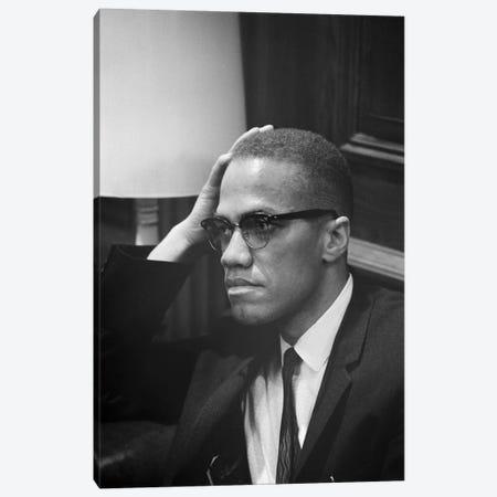 Malcolm X (1925-1965) Canvas Print #GER118} by Marion Trikosko Canvas Print