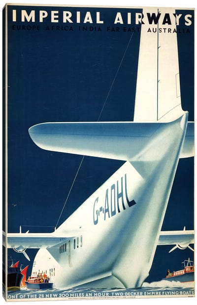 Airline Poster, 1936 Canvas Art Print