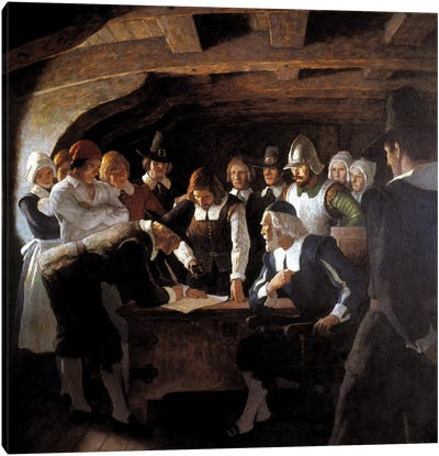 Mayflower Compact, 1620 Canvas Art Print