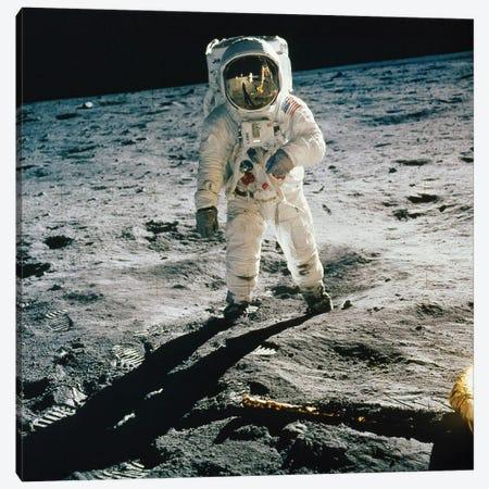 Apollo 11: Buzz Aldrin Canvas Print #GER124} by Neil Armstrong Canvas Art Print