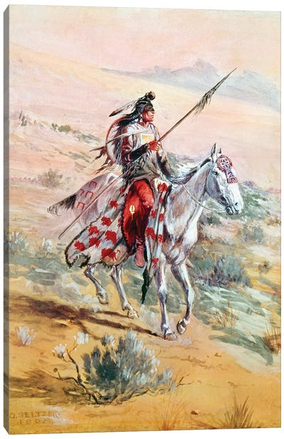 Native American Warrior Canvas Art Print