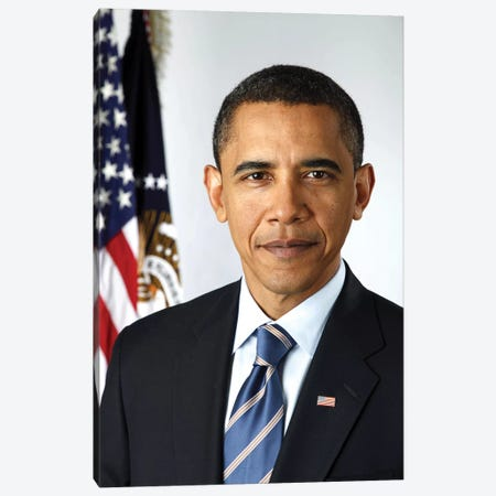 Barack Obama (1961- ) Canvas Print #GER132} by Pete Souza Canvas Art Print