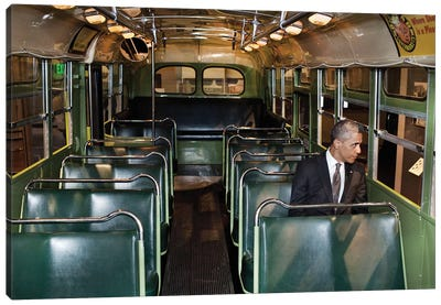 Barack Obama (1961- ) Canvas Art Print