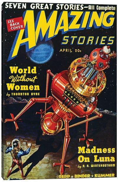 Science Fiction Cover, 1939 Canvas Art Print