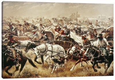 Oklahoma Land Rush, 1889 Canvas Art Print