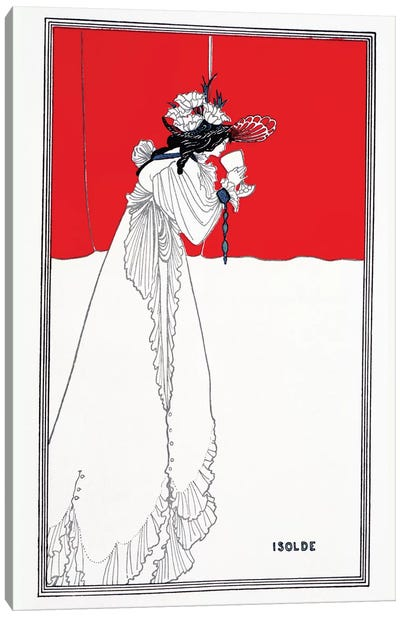 Beardsley: Isolde, 1899 Canvas Art Print