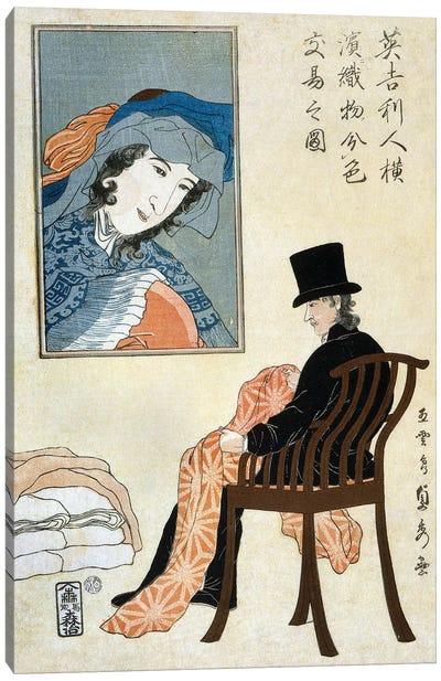 Japan: Yokohama, C1861 Canvas Art Print
