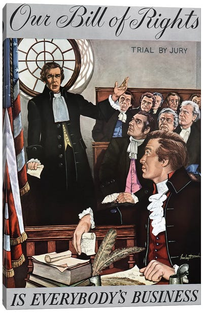 Bill Of Rights, 1959 Canvas Art Print