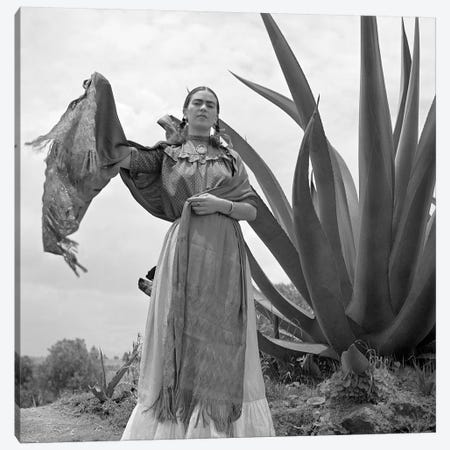 Frida Kahlo (1907-1954) Canvas Print #GER149} by Toni Frissell Canvas Wall Art