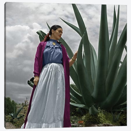 Frida Kahlo (1907-1954) Canvas Print #GER150} by Toni Frissell Canvas Art Print