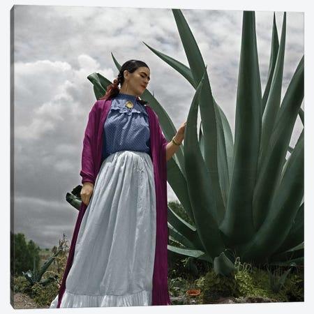 Frida Kahlo (1907-1954) Canvas Print #GER150} by Toni Frissell Canvas Art Print