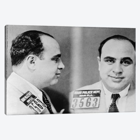 Al Capone (1899-1947) Canvas Print #GER162} by Unknown Canvas Wall Art