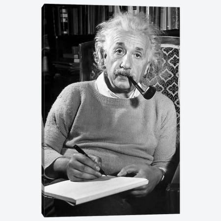 Albert Einstein (1879-1955) Canvas Print #GER164} by Unknown Art Print