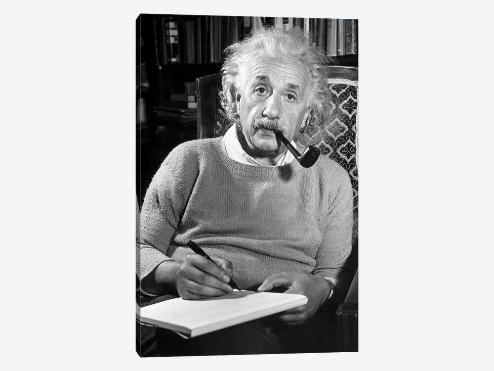 Albert Einstein (1879-1955) by Unknown 1-piece Canvas Print