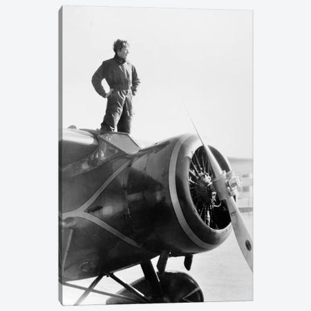Amelia Earhart (1897-1937) Canvas Print #GER167} by Unknown Canvas Print