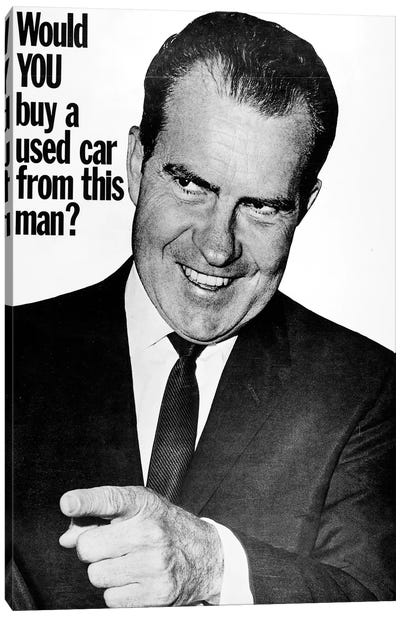 Anti-Nixon Poster, 1960 Canvas Art Print