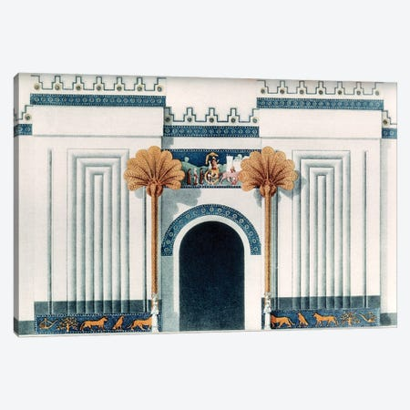 Assyrian Temple Canvas Print #GER176} by Unknown Canvas Wall Art