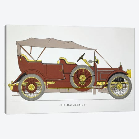 Auto: Daimler 38 Hp, 1910 Canvas Print #GER179} by Unknown Canvas Art Print