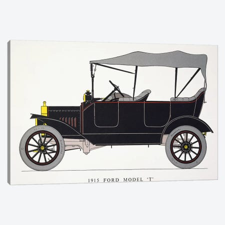 Auto: Model T Ford, 1915 Canvas Print #GER180} by Unknown Canvas Artwork
