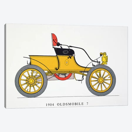 Auto: Oldsmobile, 1904 3-Piece Canvas #GER181} by Unknown Canvas Wall Art