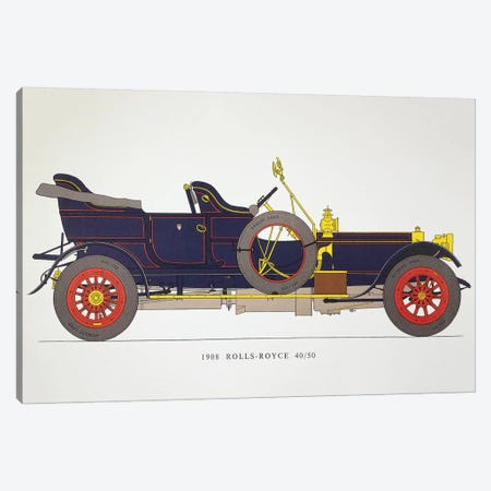 Auto: Rolls-Royce, 1908 Canvas Print #GER182} by Unknown Canvas Wall Art