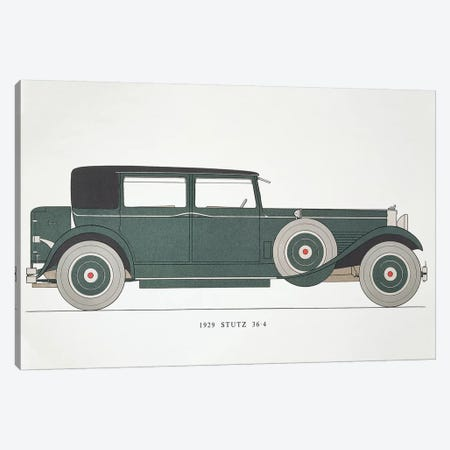 Automobile: Stutz, 1929 Canvas Print #GER183} by Unknown Canvas Artwork