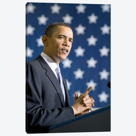 Barack Obama (1961- ) Canvas Print #GER185} by Unknown Canvas Art Print