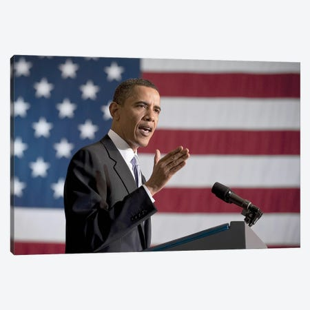 Barack Obama (1961- ) Canvas Print #GER186} by Unknown Canvas Art Print