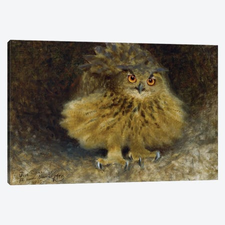 Liljefors: Owl, 1905 Canvas Print #GER18} by Bruno Liljefors Canvas Artwork