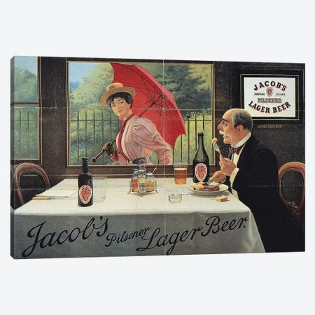 Beer Advertisement, 1898 Canvas Print #GER192} by Unknown Art Print