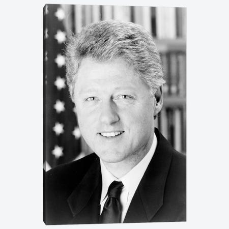 Bill Clinton (1946- ) Canvas Print #GER193} by Unknown Art Print