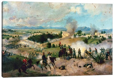 Battle Of Molino Del Rey Canvas Art Print