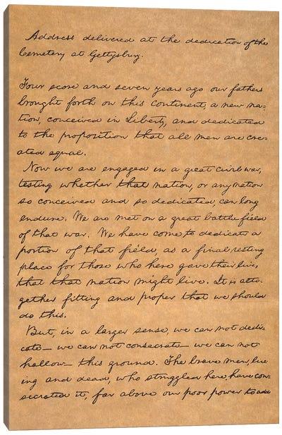 Gettysburg Address Canvas Art Print
