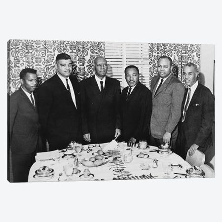 Civil Rights Leaders, 1963 Canvas Print #GER213} by Unknown Canvas Art