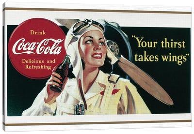 Coca-Cola Ad, 1941 Canvas Art Print