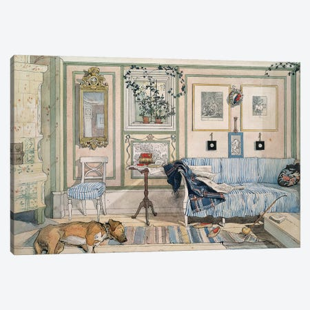 Larsson: Home, C1895 Canvas Print #GER21} by Carl Larsson Art Print
