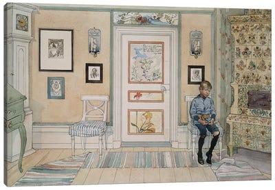 Larsson: In The Corner Canvas Art Print