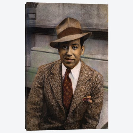 Langston Hughes (1902-1967) Canvas Print #GER23} by Carl Van Vechten Canvas Art Print