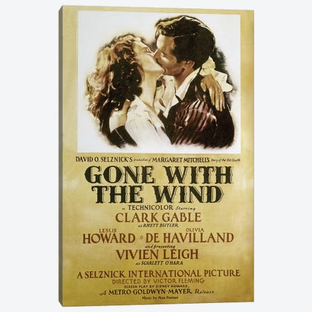 Gone With The Wind, 1939 Canvas Print #GER251} by Unknown Canvas Wall Art