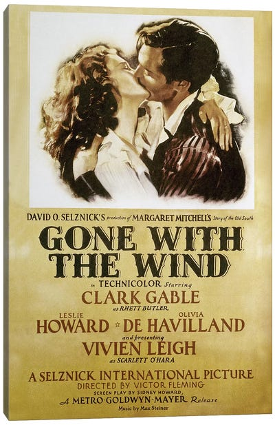 Gone With The Wind, 1939 Canvas Art Print