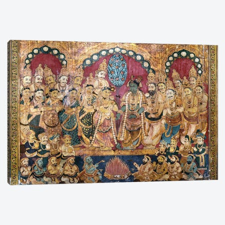 Hindu Wedding Ceremony Canvas Print #GER254} by Unknown Art Print