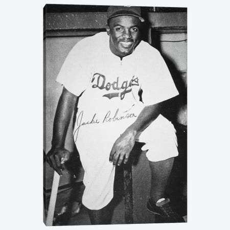 Jackie Robinson (1919-1972) Canvas Print #GER260} by Unknown Canvas Print